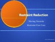 Restraint Reduction - Trinitas Hospital