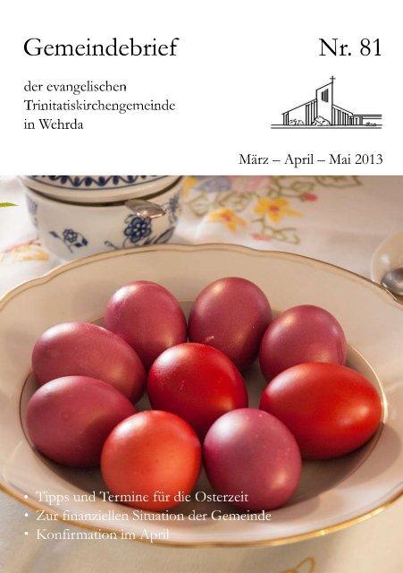 Nr. 81: März - April - Mai 2013 - Evangelische ...