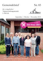 Nr. 83: September - Oktober - November 2013 - Evangelische ...