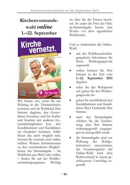 Nr. 83: September - Oktober - November 2013 - Evangelische ...