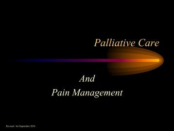 Palliative Care and Pain Management - Trinitas Hospital