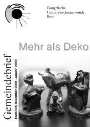 Weihnachten: Mehr als Deko - Evangelische Trinitatiskirche Bonn