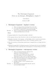 Notes on van Inwagen, Metaphysics, chapter 9 - Trinity University