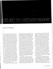 The Art of Cinematography - Trinity University