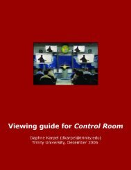 Control Room – Pre -viewing Guide - Trinity University