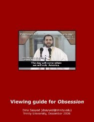 Obsession: Radical Islam's War Against the West - Trinity University
