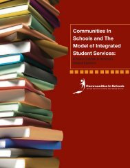 CIS and the Model of Integrated Student Services - Communities In ...