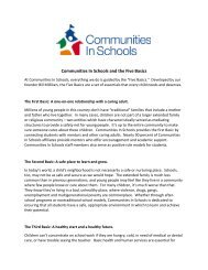 Communities In Schools and the Five Basics - CISnet