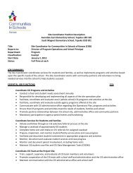 Site Coordinator Position Description Avondale East Elementary ...
