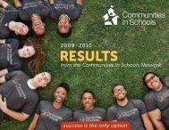National Network Results: 2009-2010 - Communities In Schools of ...