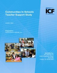 Teacher Support Study - Communities In Schools of Kansas