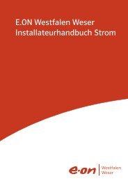 Installateurhandbuch Strom 2012 - E.ON Westfalen Weser