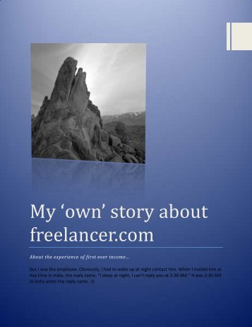 My 'own' story about freelancer.com