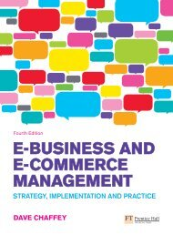 E-Business and E-Commerce Management: strategy, Implementatio