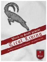 Tirol Living - Werte in Stoff gewebt