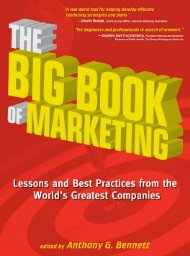 The Big Book of Marketing: Lessons and Best ... - always yours