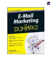 E-Mail Marketing For Dummies - always yours