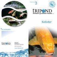 Broschüre für Koifutter - Tripond