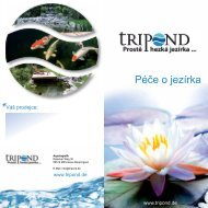 Péče o jezírka - Tripond