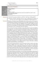 Sheep lessees of Theadelpheia Bibliography J ... - Trismegistos