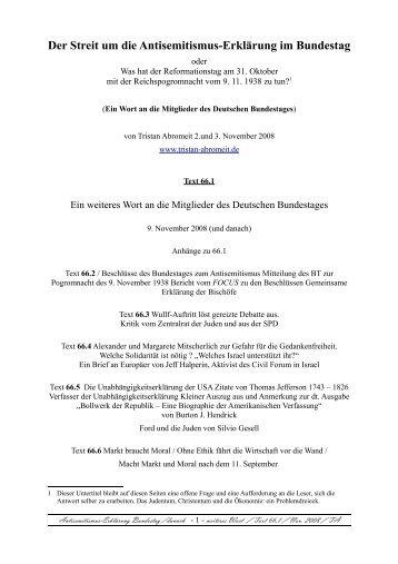 Der Streit um die Antisemitismus-Erklärung im Bundestag