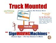 The Original Outdoor Sign Waving Machine Truck Mounted