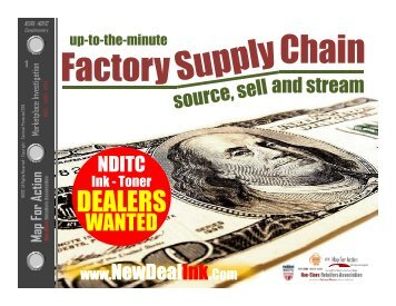 Become A Millionaire Inkjet Toner Cartridge Factory Direct Supply NDITC Dealers Wanted