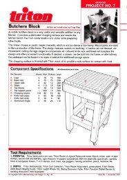 Advanced- Butchers Block - Triton Tools