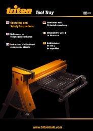 Manuale di istruzioni - Triton Tools