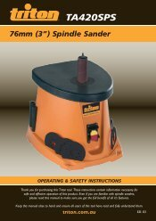 "(3"") Spindle Sander - Triton Tools"