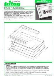 Simple Picture Framing - Triton Tools