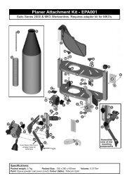Planer Attachment Kit - EPA001 - Triton Tools