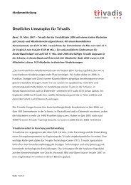 Deutliches Umsatzplus für Trivadis (Pressemitteilung D)