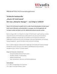 Oracle 10g Grid Control - Trivadis