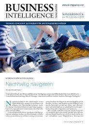 Nachhaltig navigieren - Trivadis