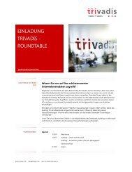 Einladung Trivadis Roundtable