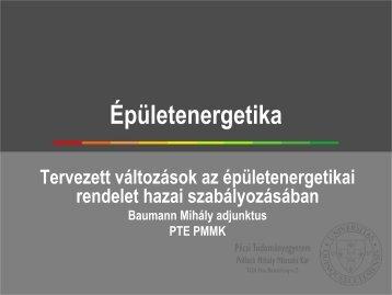 Tervezett változások az épületenergetikai rendelet hazai ... - trivent.hu