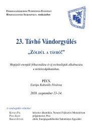 23. Távhő Vándorgyűlés Ppogram - trivent.hu