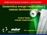 Geotermikus energia hasznosítása a miskolci ... - trivent.hu