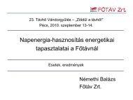 Napenergia-hasznosítás energetikai tapasztalatai a ... - trivent.hu
