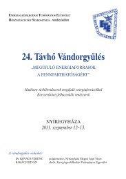 24. Távhõ Vándorgyûlés - trivent.hu