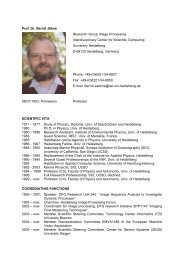 Prof. Dr. Bernd Jähne Research Group Image ... - CellNetworks