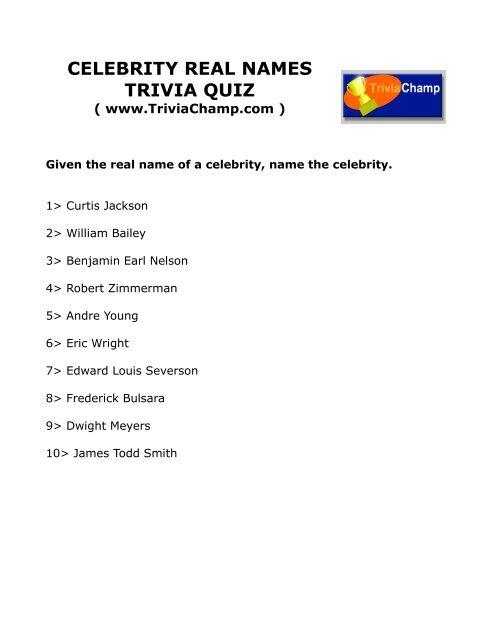 Names trivia