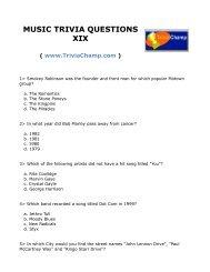 Music Trivia Questions Xx Trivia Champ