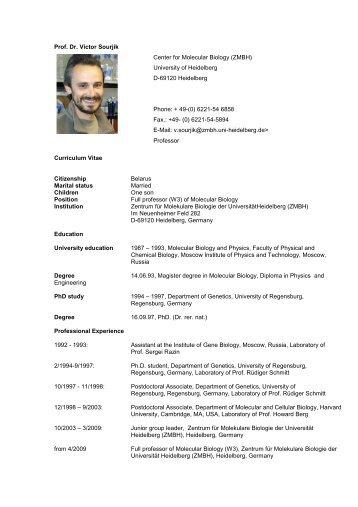 Sourjik_CV neu (PDF / 72.8 KB) - CellNetworks