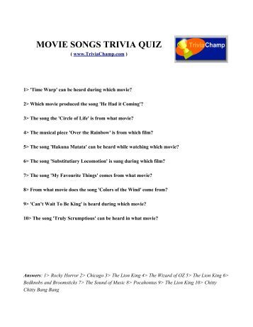 movie songs trivia quiz trivia champ - Halloween Monster Trivia