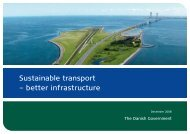 Sustainable transport – better infrastructure