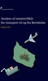 Analyse af rammevilkår for transport til og fra Bornholm