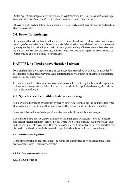 Rapport om organisering af jernbaneoverkørselsområdet