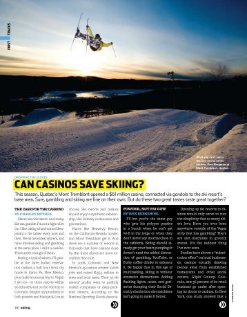 Can Casinos save skiing? - Charles Bethea